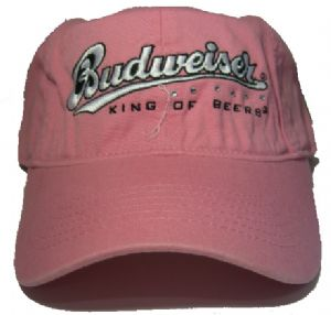 .Officially Licensed Budweiser Pink Baseball Cap